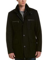 Cole Haan Signature Wool-blend Coat - Black