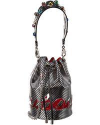 Christian Louboutin Marie Jane Leather & Pvc Bucket Bag - Black