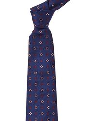 Brooks Brothers Navy Anchor & Lifesavers Silk Tie - Blue