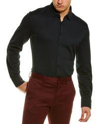 Stone Rose Knit Shirt - Black