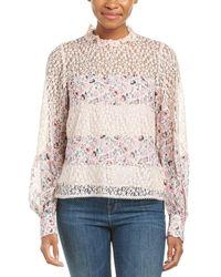 Nanette Lepore Fiore Silk Blouse - Pink
