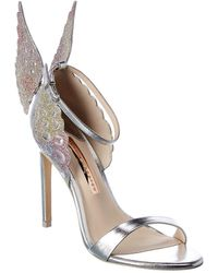 Sophia Webster Evangeline Leather Sandal - Metallic