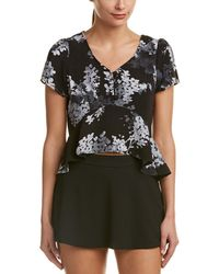 Olivaceous - Peplum Top - Lyst