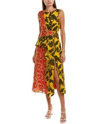 Prabal Gurung Shar Silk-lined Midi Dress - Red