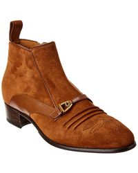 Gucci Suede Ankle Boot - Brown
