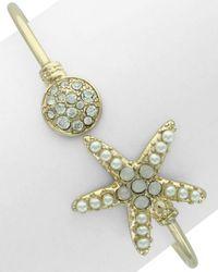 Sparkling Sage - Plated Resin Starfish Bracelet - Lyst