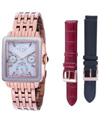 Gv2 Bari Diamond Watch With Interchangable Straps - Red