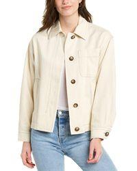 Vince Utility Linen-blend Jacket - Natural