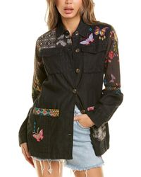 Johnny Was Patchwork Military Jacket - Multicolour