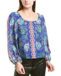 Nanette Lepore Silk Top - Blue