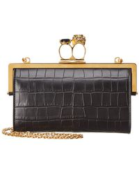 Alexander McQueen - Knuckle Skull Leather Clutch - Lyst