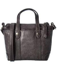 Frye Melissa Mini Leather Crossbody Shopper - Grey