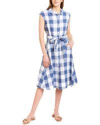 Joules Alisandra Linen Shirtdress - Blue