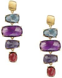 Marco Bicego Murrano 18k Gemstone Drop Earrings - Multicolour