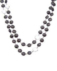 Coomi Opera Silver 146.39 Ct. Tw. Diamond & Black Spinel & Crystal Necklace - Metallic
