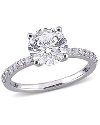 Rina Limor 10k 2.72 Ct. Tw. White Sapphire Solitaire Ring