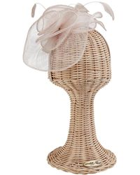 San Diego Hat Company Women's Sinamay Fascinator - Natural