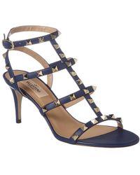 Valentino Garavani Valentino Garavani Rockstud Sandals - Blue