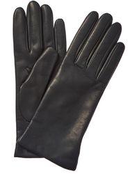 Portolano Cashmere-lined Leather Gloves - Grey