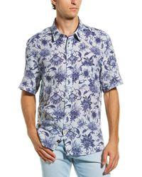 Benson Woven Button-down Shirt - Blue