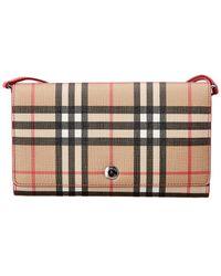 Burberry - Hannah Vintage Check Detachable Strap Wallet - Lyst