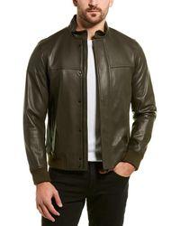 Theory Richard Leather Jacket - Green