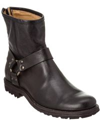 Frye - Phillip Lug Harness Leather Boot - Lyst