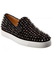 Christian Louboutin Roller Boat Suede Sneaker - Black