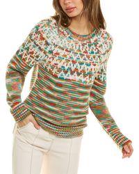 Missoni Raglan Wool-blend Sweater - Green