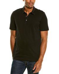 Theory Bron B.air Pique1 Polo Shirt - Black