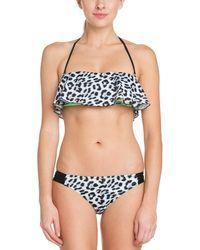 Hurley - Aussie Black Print Bikini Bottom - Lyst