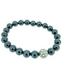 Arthur Marder Fine Jewelry Silver 0.40 Ct. Tw. Diamond & Tourmaline Stretch Bracelet - Blue