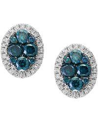 Effy - Fine Jewelry 14k 0.99 Ct. Tw. Diamond Studs - Lyst