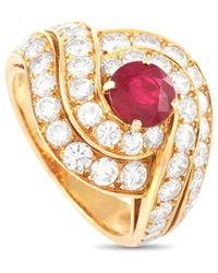 Van Cleef & Arpels Vintage Van Cleef & Arpels 3.05 Ct. Tw. Diamond & Ruby Ring - Metallic