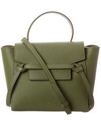Céline Nano Belt Bag Leather Tote - Green