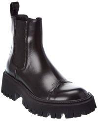 Balenciaga Tractor Leather Bootie - Black