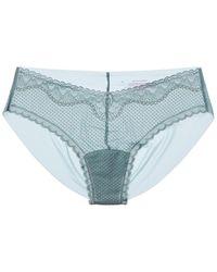 Commando ? Perfect Stretch Lace Bikini - Blue
