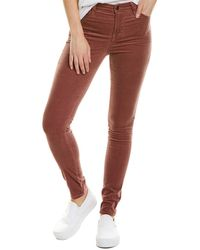 J Brand Maria Warm Sable High-rise Skinny Leg - Purple