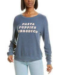 Wildfox Baggy Beach Jumper Essentials Sweatshirt - Blue