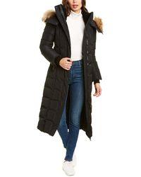 Mackage Jada Maxi Down Leather-trim Coat - Black