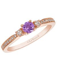 Le Vian ? Stackable 14k Rose Gold 0.33 Ct. Tw. Diamond & Amethyst Ring - Pink