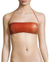 La Perla Sequined Underwire Bikini Top - Multicolor