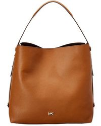 MICHAEL Michael Kors - Griffin Large Hobo Leather Bag - Lyst