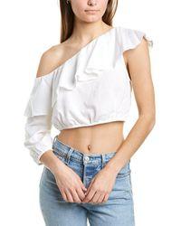 BCBGeneration - One-shoulder Linen-blend Top - Lyst