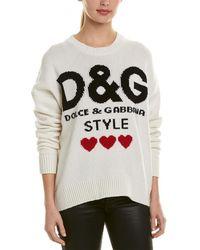 Dolce & Gabbana Oversized Cashmere Jumper - White