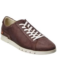 Softinos Softinos By Fly London Cer Leather Trainer - Brown