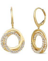 Le Vian ? 14k Honey Gold 1.00 Ct. Tw. Diamond Earrings - Metallic