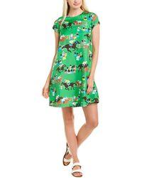 J.McLaughlin Silk Shift Dress - Green