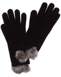 Phenix Cashmere Honeycomb Glove - Black