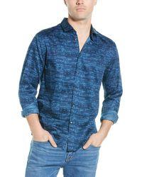 John Varvatos Slim Fit Sport Shirt - Blue
